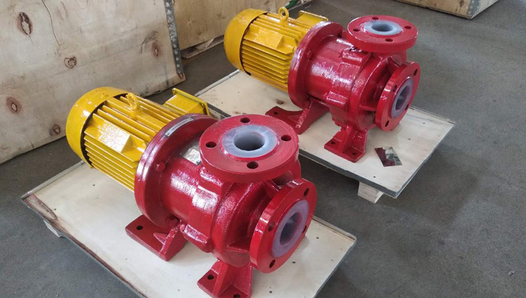 Two sets of PTFE lined magnetic pumps for pesticide projects in Guatemala.