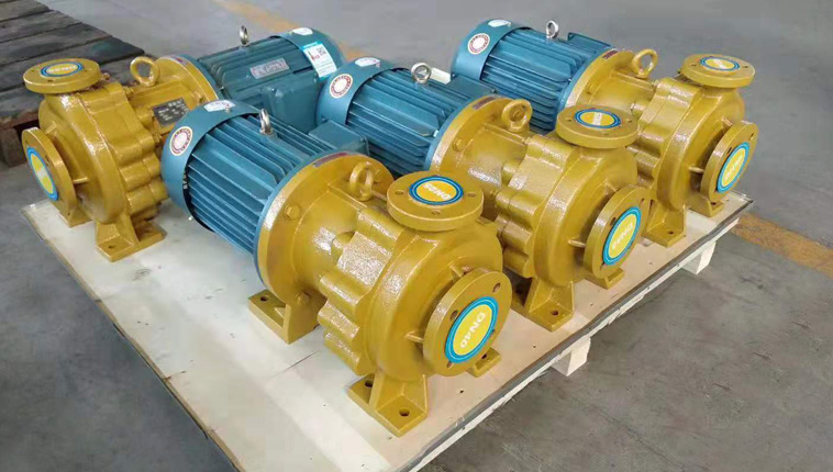 IMD horizontal FEP lined salt water transport pump to Angola, Africa