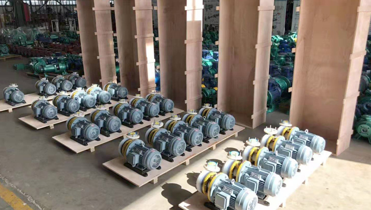 36 sets fluoroplastic alloy centrifugal pumps are sent to South Korea for shipboard use.