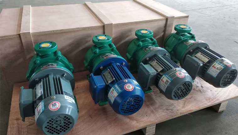 PTFE-lined chemical magnetic pumps destined for Tanzanian chemical plants