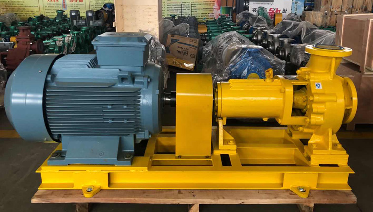 IHF- large flow acetic acid chemical centrifugal pump is sent to a factory in the Netherlands.