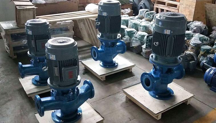 Vertical Teflon lined corrosion resistant centrifugal pump, sent to Vietnam.
